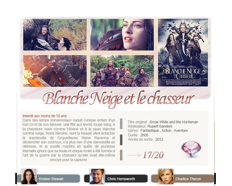 Blanche Neige et le chasseur de Rupert Sanders avec Kristen Stewart, Chris Hemsworth et Charlize Theron