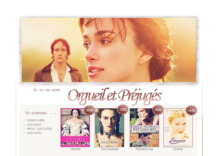 Selection Films - Orgueil et Préjugés