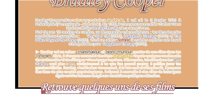Acteurs - Bradley Cooper