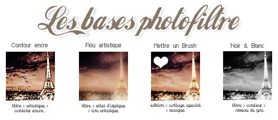 Les Bases pour Photofiltre