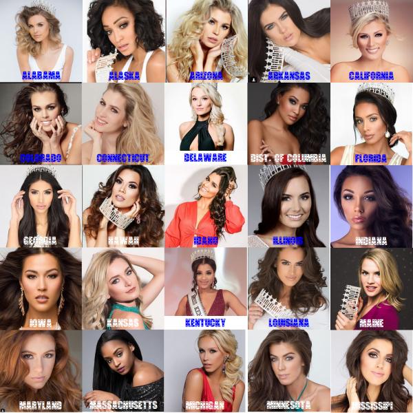 Candidates Miss USA 2018