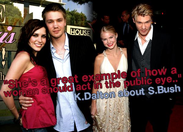 ••● Infos ►  En 2009 Kenzie parle de Sophia Bush, l'ex femme de son fiancé, sur son blog