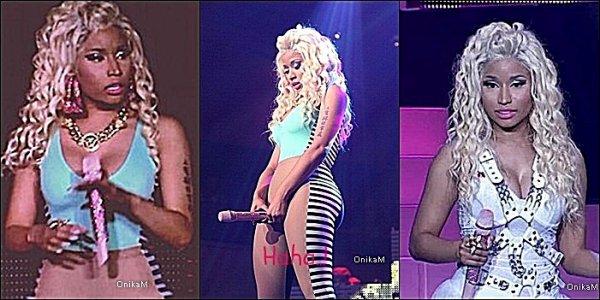 14/08/12 : Nicki a était aperçu au Pink Friday Tour gratuit, le show a duré 2h15 avec beaucoup de venues sur scène ainsi que beaucoup de rap d'anciennes chansons/feats/mixtapes en compagnie de Lil Wayne et Drake. Ce Pink Friday Tour était le dernier du Tour, et comme les bonnes choses ont une fin, on peut comprendre l'émotion de la rappeuse à la fin du show. Voir les autres vidéos : ♔ ; ♔ ; ♔ ; ♔ ; ♔ ; ♔ ; ♔ ; ♔