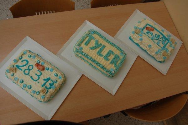 les trois gâteaux que j'ai fais pour le baptême de Tyler