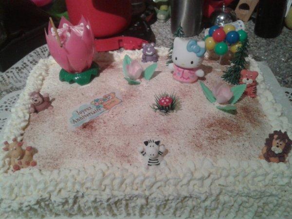 Gâteau pour l'anniversaire de ma petite cousine