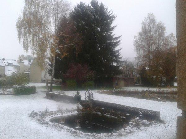 Ce matin sous la neige j'adore
