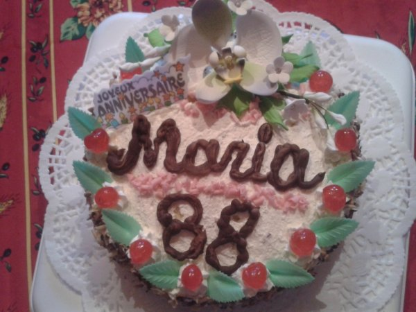 Gâteau anniversaire pour une dame de 88 ans