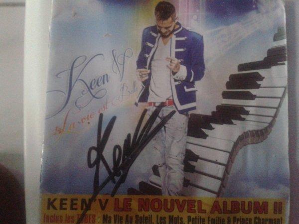 """Mon CD """"La Vie est Belle """" avec son Autographe"""