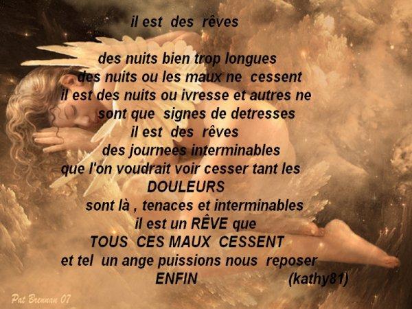 """"""" Il est des rêves """" ... ... ..."""