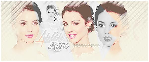 Bienvenue sur QueenAdelaide, ta source d'actualité pour suivre Adelaide Kane! À travers divers articles tels que des vidéo, photoshoot, interview et plus suivez désormais le quotidien de la belle Adelaine Kane.