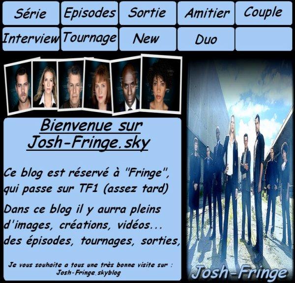"""...   ...  BIENVENU SUR JOSH-FRINGE CE BLOG EST UNIQUEMENT SUR """"FRINGE""""  ...   ...  Retrouver moi aussi sur :  .......... Joshua--Jackson (blog sur Joshua Jackson) .......... Josh-Dawson (blog sur Dawson's Creek)  ..."""