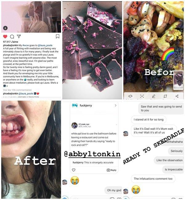 Du 8 au 21 Août 2018, Phoebe a posté sur son Instagram