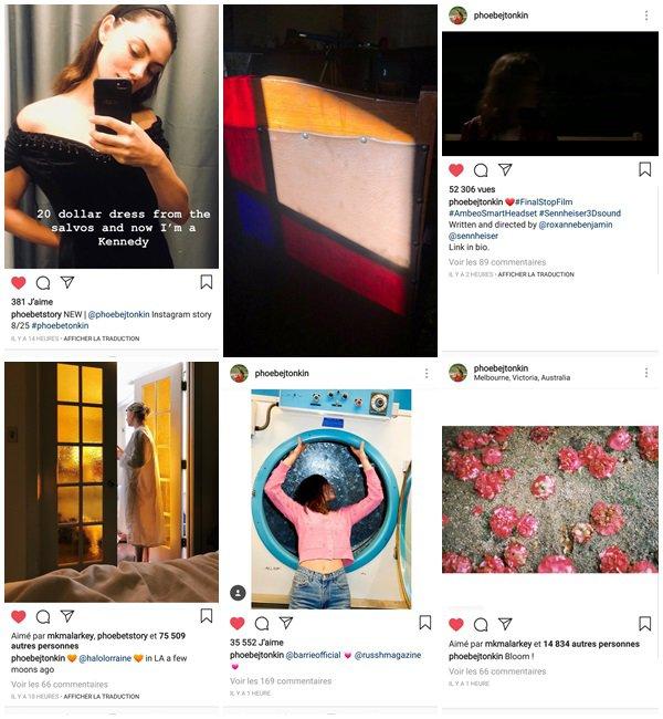 Du 22 Août au 6 Septembre 2018, Phoebe a posté sur son Instagram