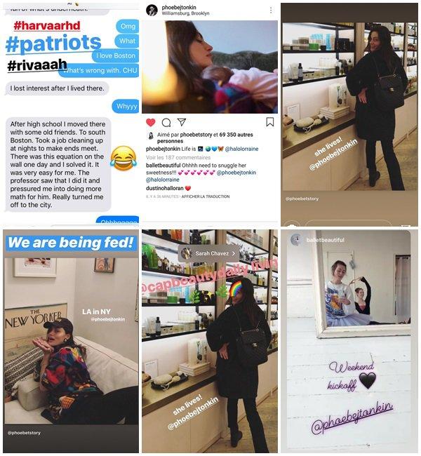 Du 3 au 6 Janvier 2019, Phoebe a posté sur son Instagram