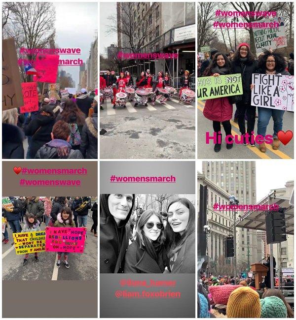 19 Janvier 2019 - Phoebe était à la WomenMarch