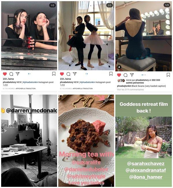 Du 21 au 26 Janvier 2019, Phoebe a posté sur son Instagram