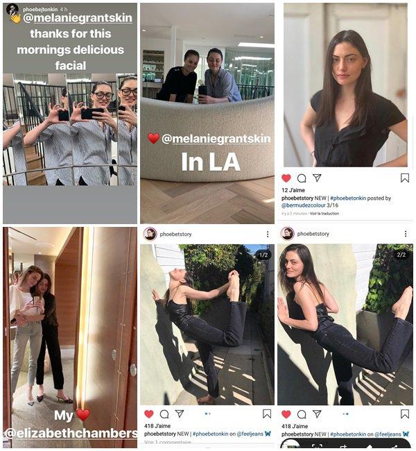 Du 13 au 20 Mars 2019, Phoebe a posté sur son Instagram