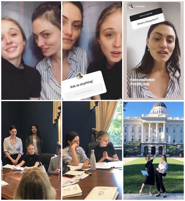 9 Avril 2019 - Phoebe était à une assemblée pour préserver l'environnement et la santé des gens contre les lois de Trump