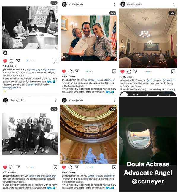 Du 9 au 19 Avril 2019, Phoebe a posté sur son Instagram. Le 10 Avril 2019, elle a fait un nouveau shoot prochainement disponible. Le 12 Avril 2019, elle a passée la soirée avec ses amies