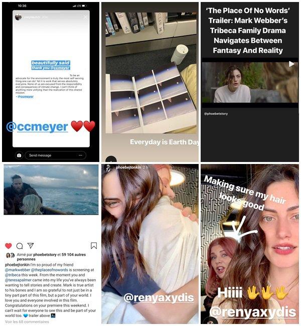 Du 20 au 29 Avril 2019, Phoebe a posté sur son Instagram