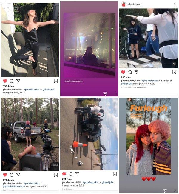 """Du 16 au 29 Mai 2019, Phoebe a posté sur son Instagram. Phoebe était sur le tournage du court métrage """"Furlough"""""""