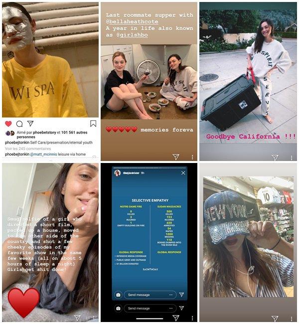 Du 29 Mai au 14 Juin 2019, Phoebe a posté sur son Instagram. Le 9 Juin 2019, Phoebe a fait un shoot.