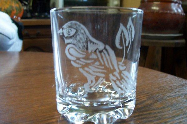 verre oiseau