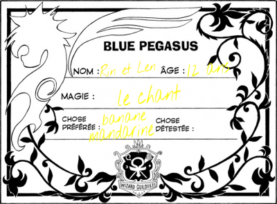 Cartes de Blue Pegasus