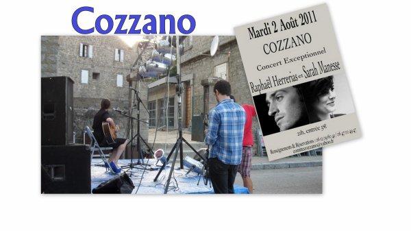 Concert à Cozzano: 02/08/11