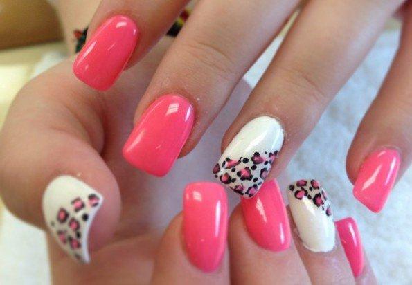 nail art leopard