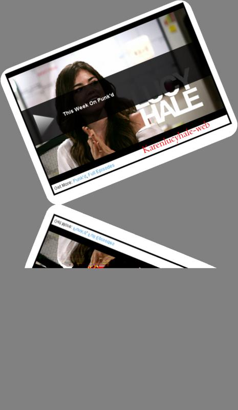 Lucy Hale pour l'emission Punk'd de mtv