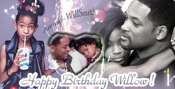. Nous sommes le 31 octobre, la petite Willow passe à 2 chiffres: 10 ans ! Joyeux anniversaire !  Qu'elle continue a nous épater encore et encore par son talent :D  Willow Smith ♥ ♥   .