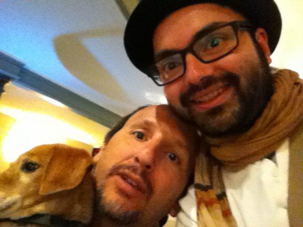 Serge Scotto et son chien Saucisse