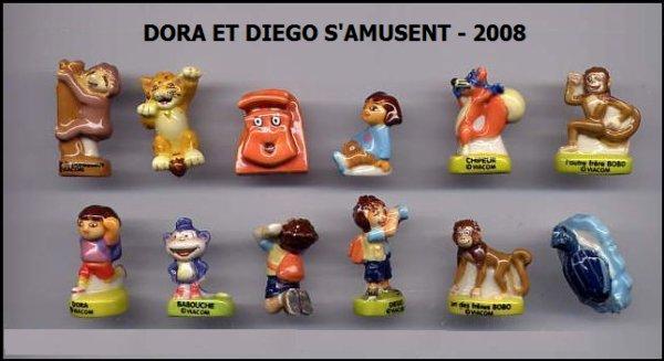 ECHANGE SERIE OU VENTE - DORA - 2008 (  DORA ET DIEGO S'AMUSENT)