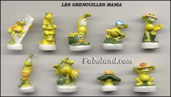 ECHANGE SERIE OU VENTE - GRENOUILLES MANIA - 2002