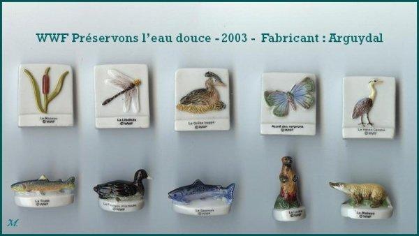 ECHANGE SERIE OU VENTE - WWF -PRESERVONS L'EAU DOUCE - 2003