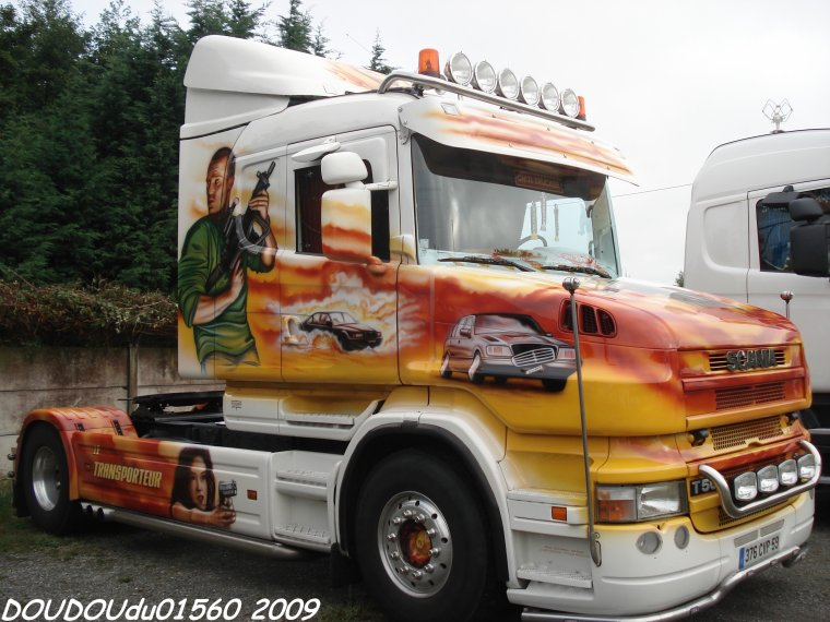 Scania T500 V8 et T 124L 420 Transports Courouble - 24H du Mans 2009