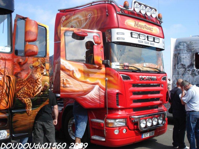 Scania R620 V8 et 144L 530 V8 Manutrans - 24H du Mans 2009