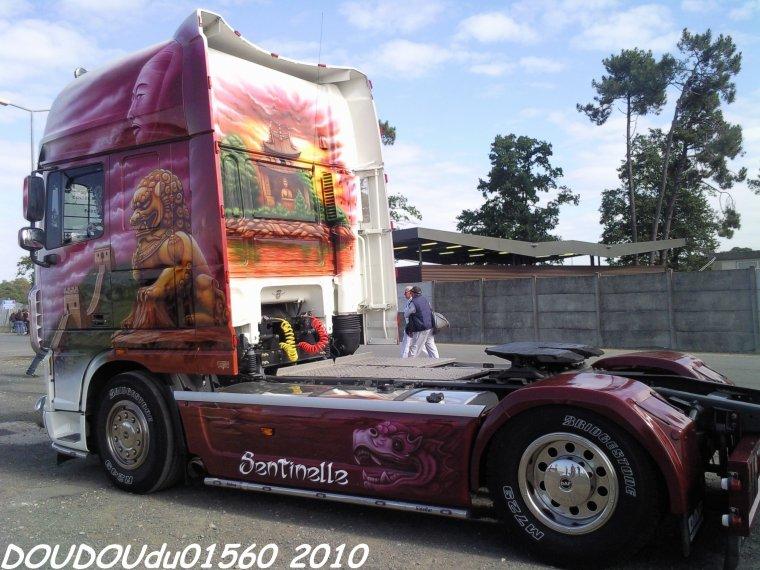 Daf XF 105 et Volvo FH Transports Allienne - 24H du Mans 2010