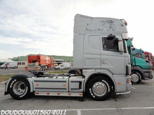 Scania 164L 480 V8 et Scania T164L 580 V8 Transports Clausse - Handicaminotrucks Montélimar 2011