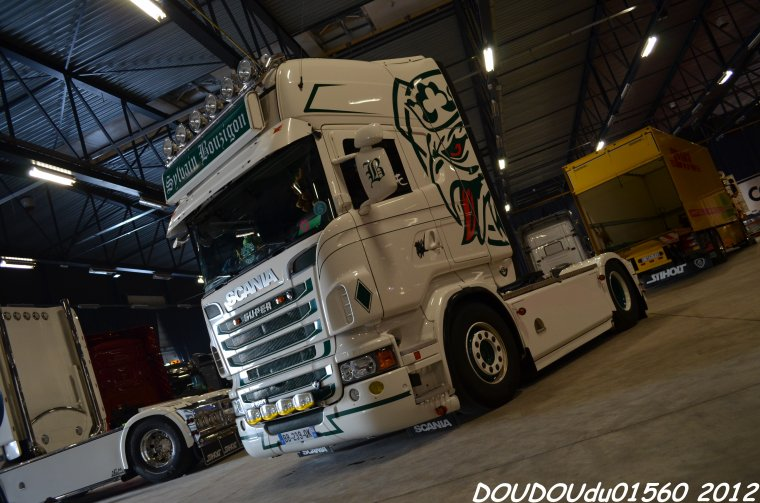Scania R560 V8 Sylvain Bouzigon - Truckshow Ciney 2012