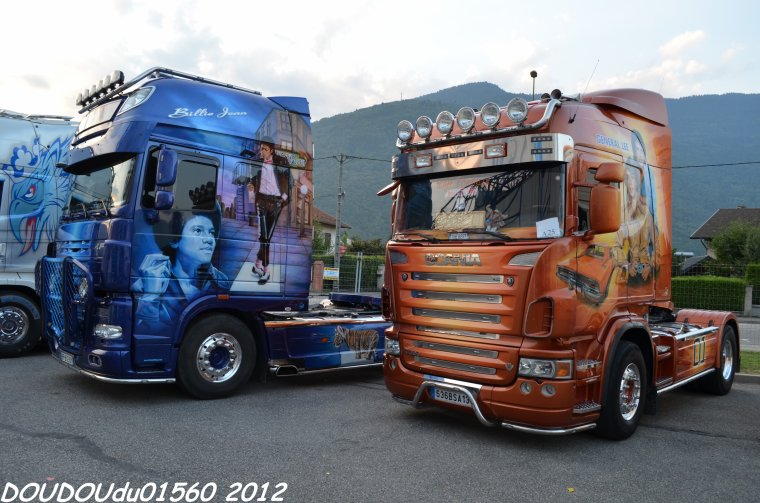 Scania R620 V8 et Daf XF 105 Transports Gastaldi - Albertville 2012