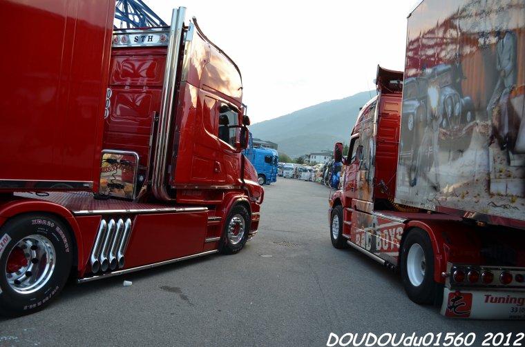 Scania T500 V8 et Volvo NH STH - Albertville 2012