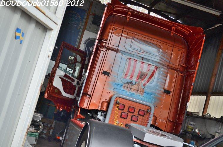 Scania 164L 480 V8 Sébastien Vout - Marcilloles 2012