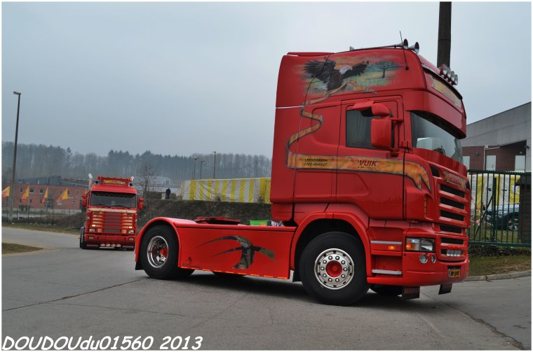 Scania R et 143M 450 V8 Vuik Transport - Truckshow Ciney 2013