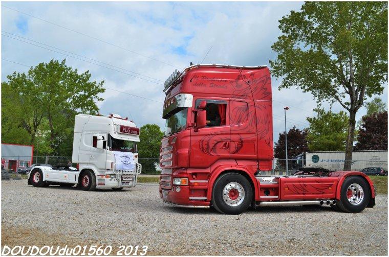 Scania R620 V8 JLS Traction et Scania R420 FLG Trans - Champagnole 2013