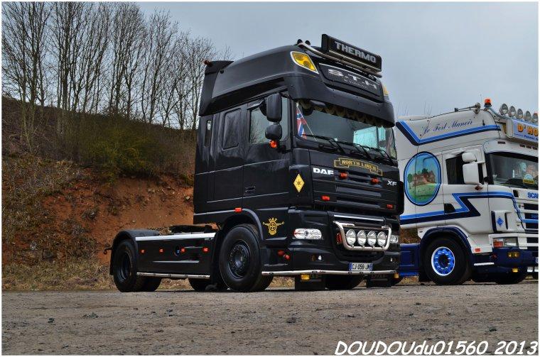 Scania T500 V8 et Daf XF 105 STH - Truckshow Ciney 2013