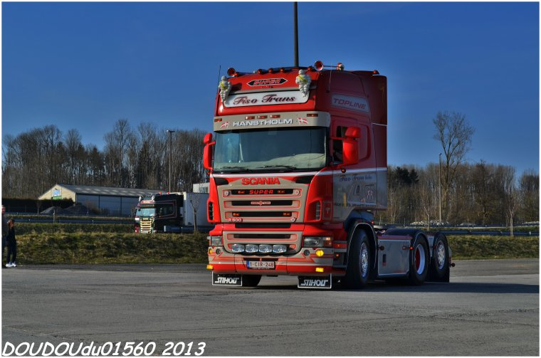 Scania R560 V8 et R500 V8 Fisotrans - Truckshow Ciney 2013
