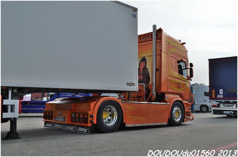 Scania R560 V8 et Scania R420 Aurénico - Handicaminotrucks Montélimar 2013
