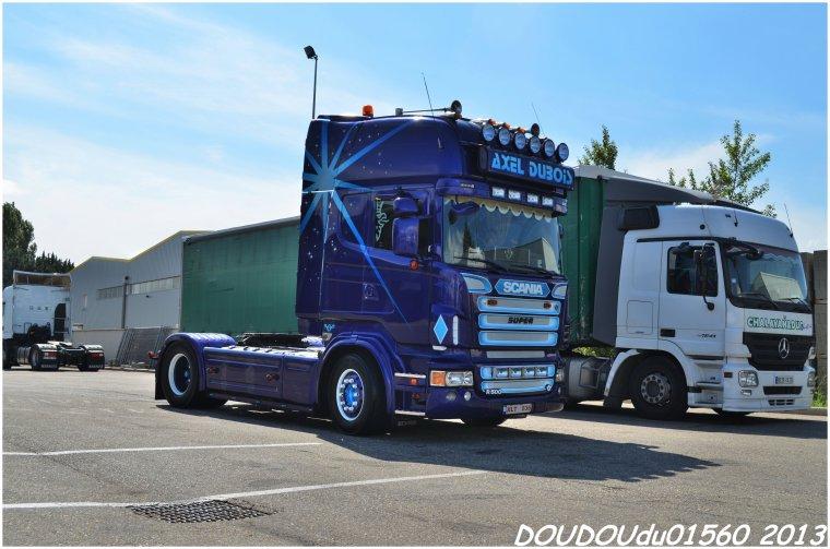 Scania R500 V8 Transports Heemskerk et Scania R500 V8 Axel Dubois - Handicaminotrucks Montélimar 2013